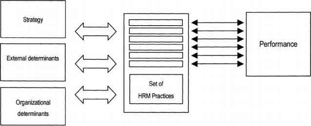 strategy that could be used to study the HRM-strategy link. Figure 2 The contingent perspective. Source: