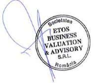 RON   Cu stima, ETOS BUSINESS Valuation&Advisory S.R.L. Cosmin FOLA evaluator autorizat EPI, EBM Pagina 3