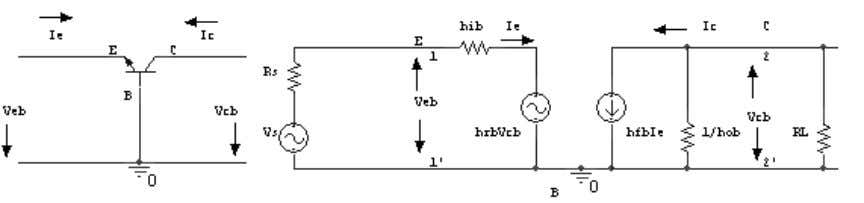 5. Draw a CB amplifier & its hybrid equivalent circuit 6. Write the Hybrid parameters equation