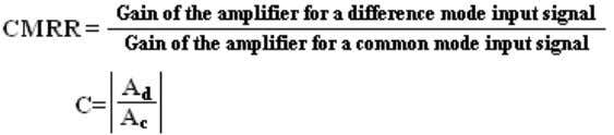 figure of merit of a differential amplifier and is given by, 21. What are the advantages