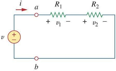 the two resistors in series shown in the following circuit can be replaced by an equivalent