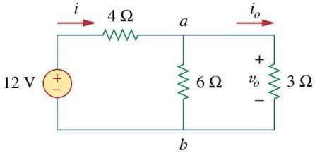 , v o , p o (power dissipated in the 3Ω resistor). Example 2.5.7 . Three