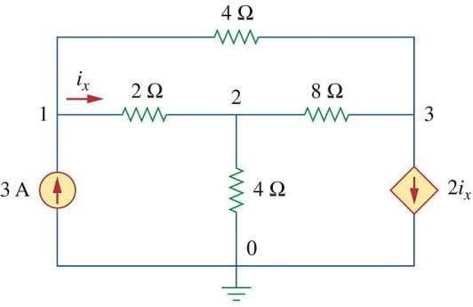 3.1.4 . Calculate the node voltages in the circuit below. 3.1.5 . Special Case : If