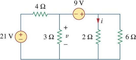 . We apply both KCL and KVL to determine the node voltages. Example 3.1.6 . Find