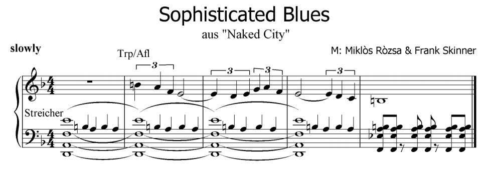 City ) Notenbeispiel Nr.1 3 7 , Sophisticated Blues Audiobeispiele Skinner Nr.1 (Trp), Nr.2 (Afl) &