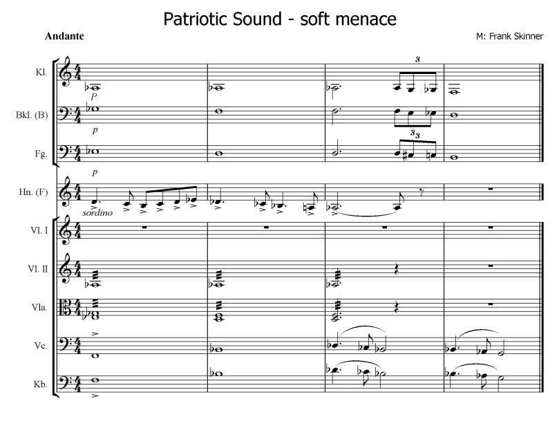 Nr.10 5 4 , Patriotic Sound - soft menace Audiobeispiel Skinner Nr.13 (Hn, tiefe Holzbläser &