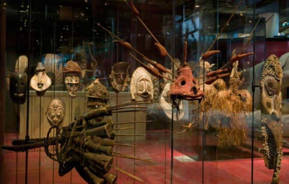 Oceanian masks collection photograph by Antonin Borgeaud Musée du quai Branly art history becomes a