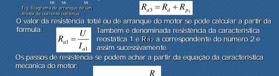 Mc M2 M1 = R + R Fig. Diagrama de arranque de um motor de