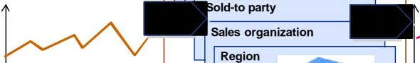 Sold-to party Sales organization Region