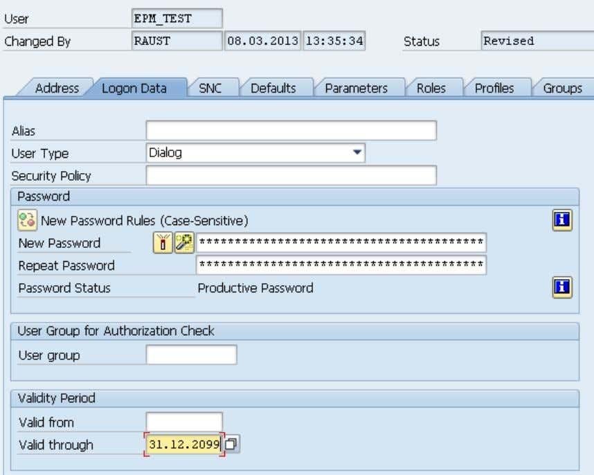 Procurement Model  Enter logon data like shown:  Use password Initial123 – this is the