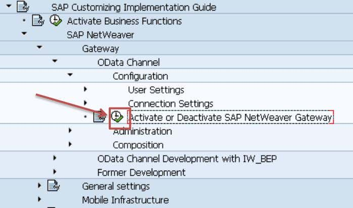 SAP NetWeaver Gateway and click on the Activity icon. A dialog pops up – if gateway