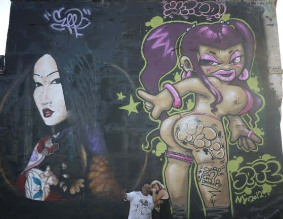 "Game has a work of visual art on or at 5Pointz titled ""Japanese Fantasy,"" which he"