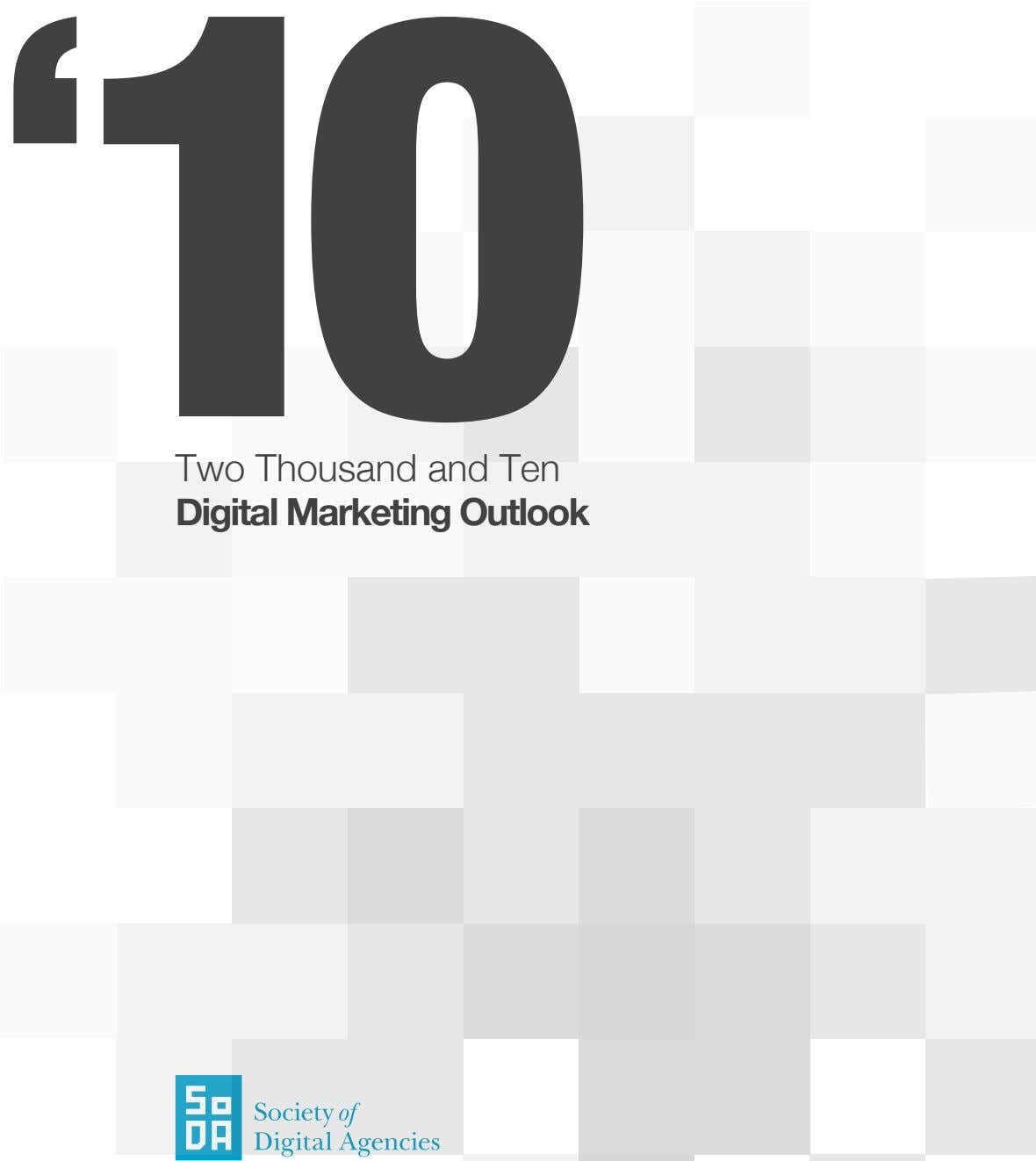 Two Thousand and Ten Digital Marketing Outlook
