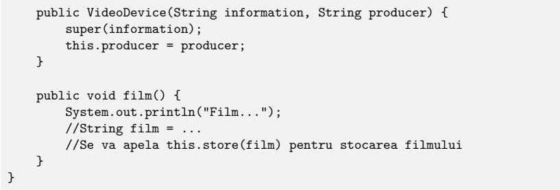 public VideoDevice(String information, String producer) { super(information); this.producer = producer; }