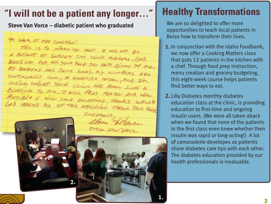 """I will not be a patient any longer…"" Healthy Transformations Steve Van Vorce – diabetic"