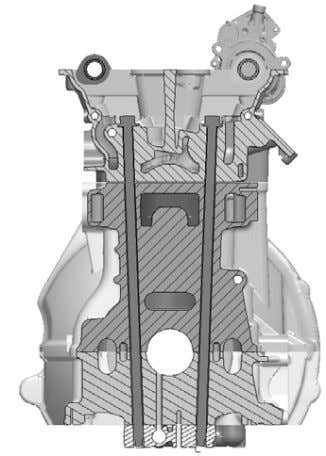 through the crankcase assembly is shown in Figure 9. Figure 9. Cross section through crankcase and