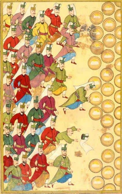 6 10 REVOLTS AND DISBANDMENT Banquet ( Safranpilav ) for the Janissaries, given by the Sultan.