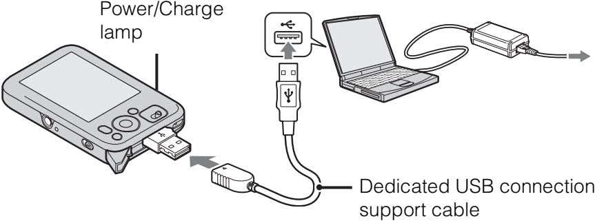 Power/Charge lamp Dedicated USB connection support cable