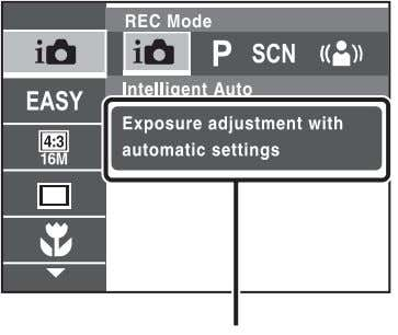 the other functions. Control button MENU xControl button Function Guide DISP (Screen Display Settings): Allows you