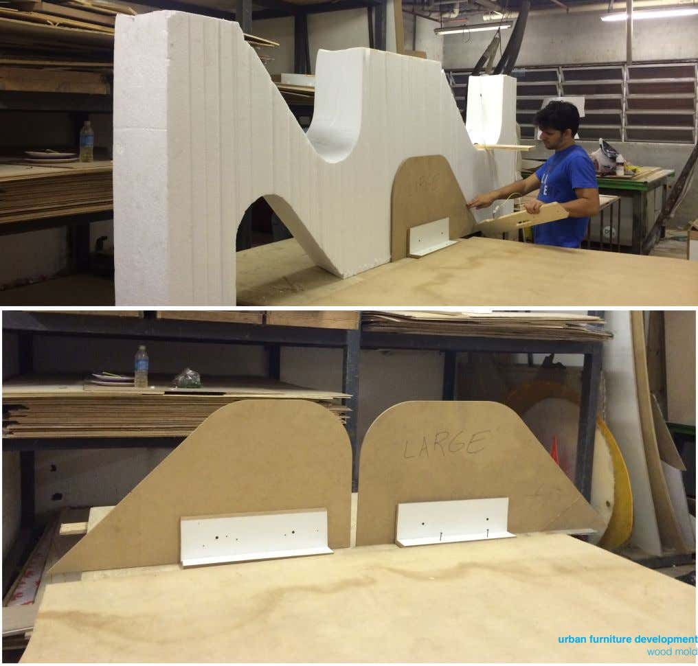 urban furniture development wood mold