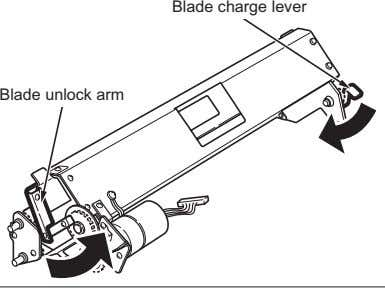 Blade charge lever Blade unlock arm