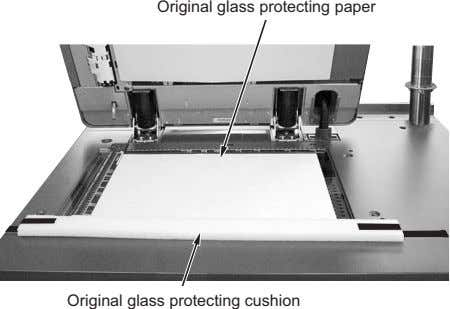 Original glass protecting paper Original glass protecting cushion