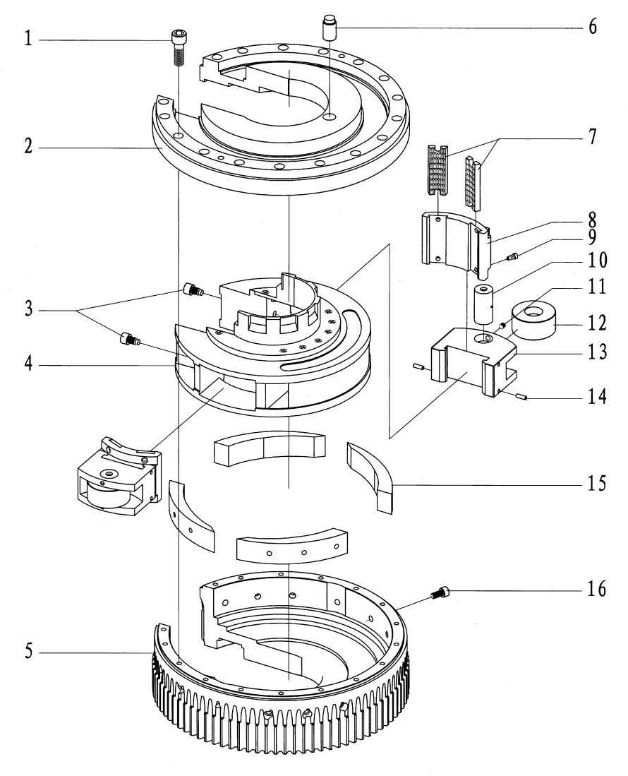 Model XQ140/12A HYDRAULIC SUCKER ROD TONG OPERATION MANUAL 10.4 Mater tong head (Fig.43, Table 9) Fig.43