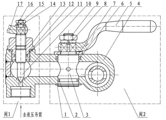 the up or down of the piston rod of the hydraulic bucket. Valve 1 Hydraulic pressure