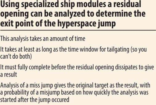 using specialized ship modules a residual opening can be analyzed to determine the exit point