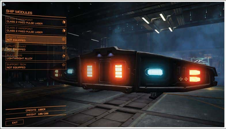 The player makes strategic choices when outfitting a ship with shield Shield cell banks are