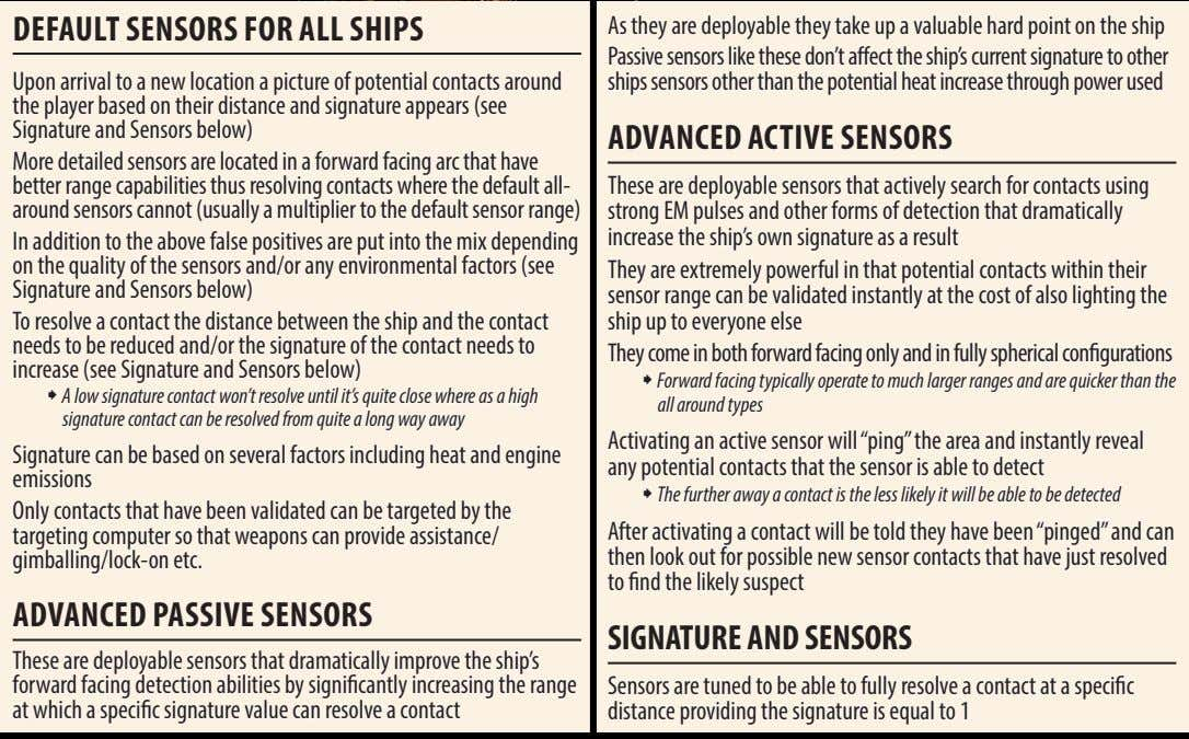 DEFAuLT sEnsors For ALL shIPs As they are deployable they take up a valuable hard