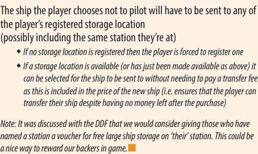 The ship the player chooses not to pilot will have to be sent to any