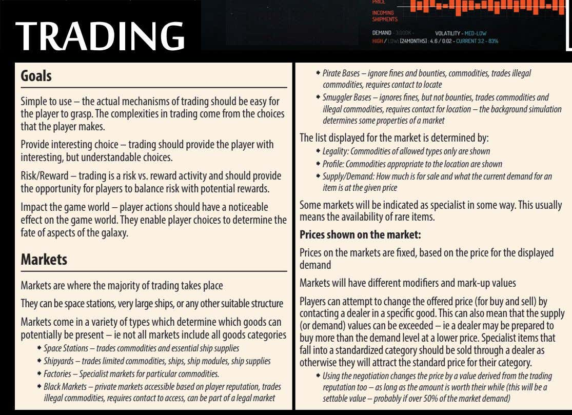 tradinG goals ˜ Pirate Bases – ignore fines and bounties, commodities, trades illegal commodities, requires
