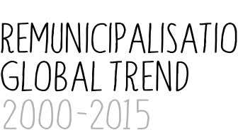 Remunicipalisation Global Trend 2000 -2015 2 235 Cases in 2000 Cases in 201 5 By
