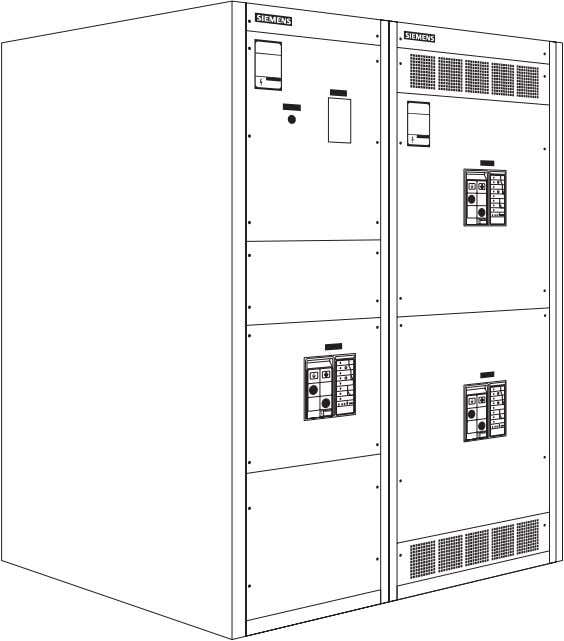 a type RCIII switchboard with Siemens insulated case circuit breakers (ICCB) in the service and distribution
