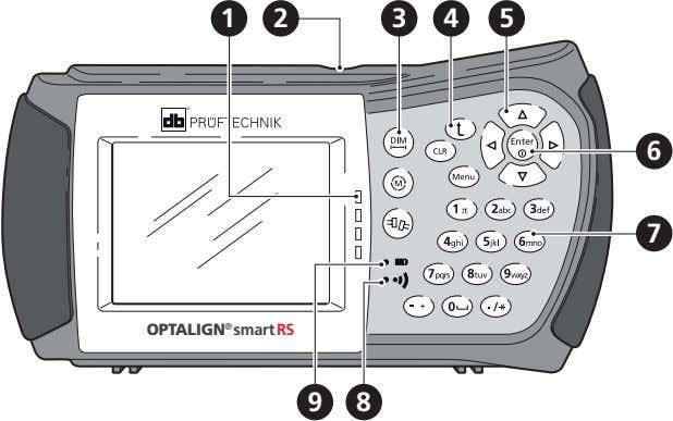 1 2 3 4 5 6 7 OPTALIGN ® smart RS 9 8