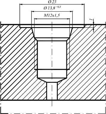 directly, or indirectly by means of a three-way valve. Fig. 6. M12x1,5 pressure measurement tap. Fig