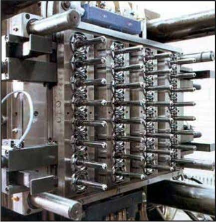 A preform mould made of Stavax ESR. TEMPERING Choose the tempering temperature according to the