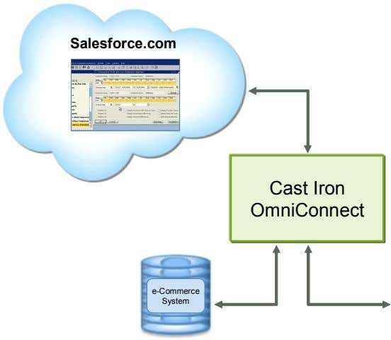 Salesforce.com Cast Iron OmniConnect e-Commerce System