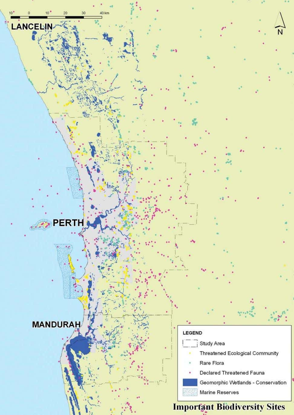 SITES OF HIGH IMPORTANCE TO BIODIVERSITY IN THE PERTH - MANDURAH REGION OPTIONS FOR OUR WATER