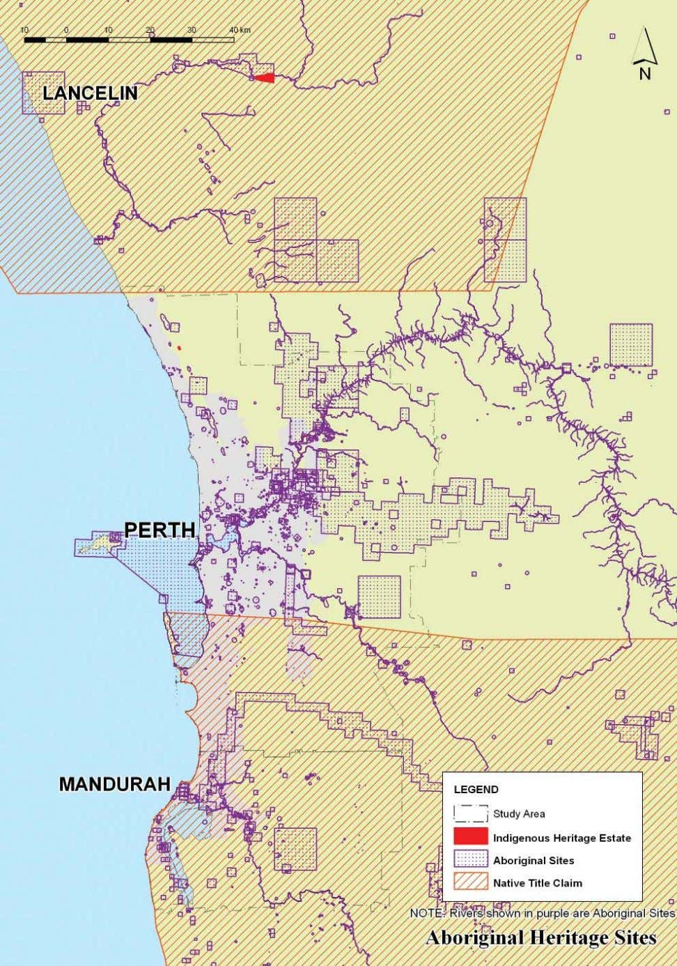 ABORIGINAL HERITAGE SITES AND NATIVE TITLE CLAIM AREAS IN THE PERTH - MANDURAH REGION OPTIONS FOR