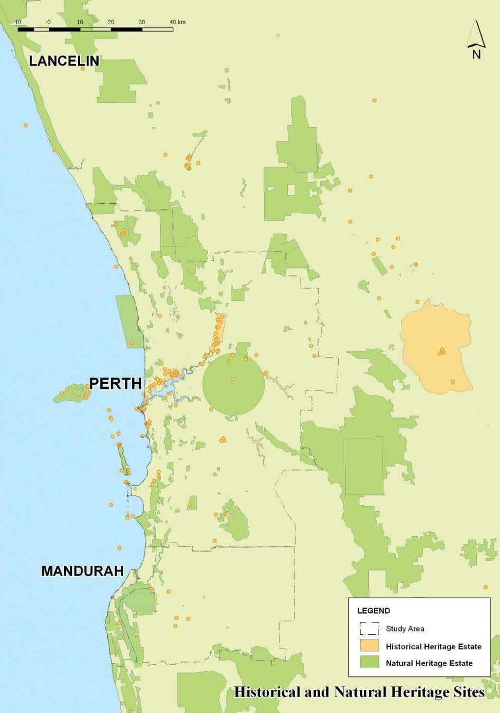 HISTORICAL AND NATURAL HERITAGE SITES IN THE PERTH - MANDURAH REGION 34
