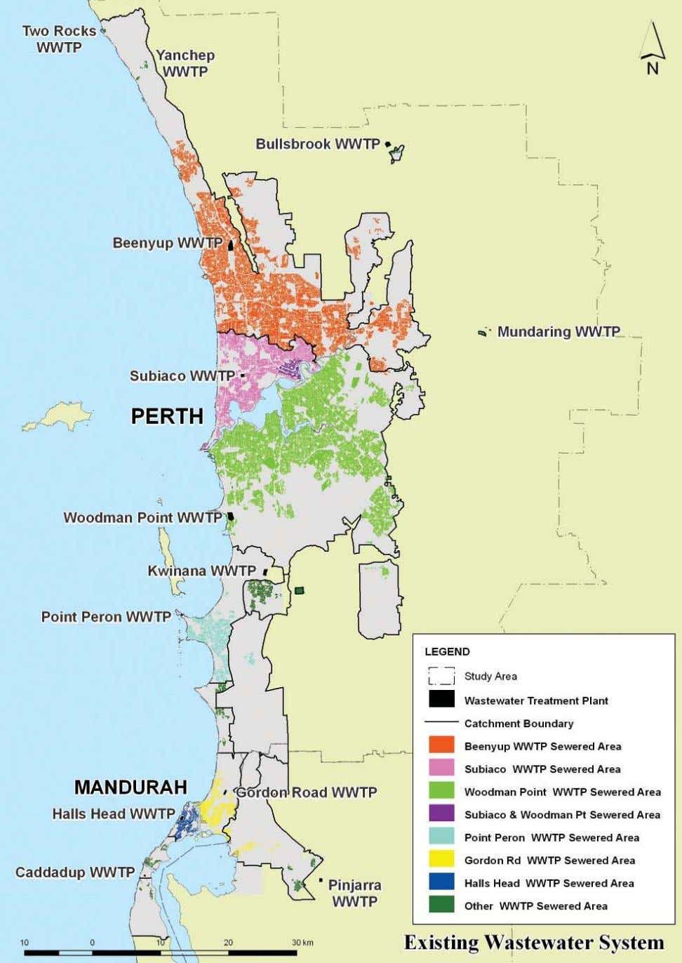 AREAS SERVICED BY PERTH - MANDURAH WASTEWATER TREATMENT PLANTS OPTIONS FOR OUR WATER FUTURE
