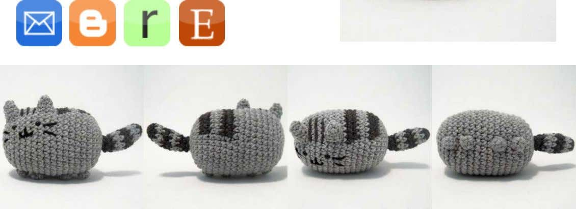 Pusheen the Cat belongs to Clare Belton and Andrew Duff. Materials Worsted weight yarn in light