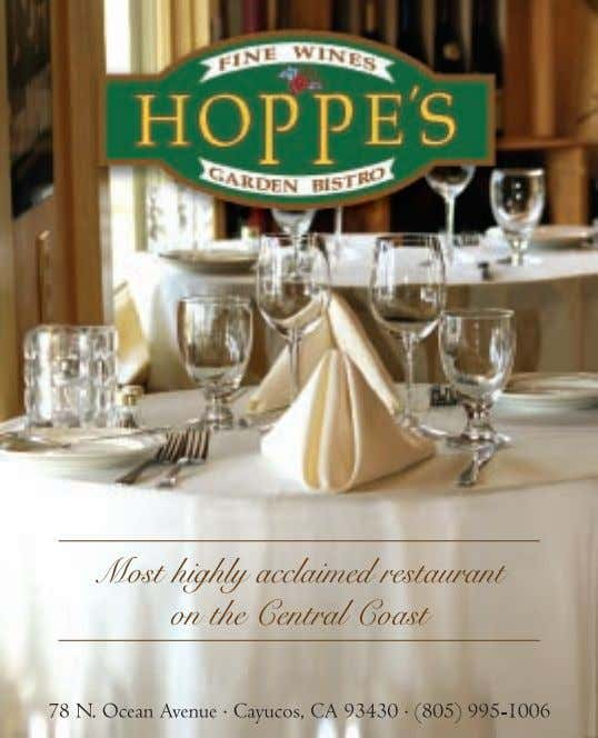 Saturday, December 2nd Black Tie Holiday Dinner featuring Holly Peterson, Napa Valley 2 3 www.winecountrythisweek.com