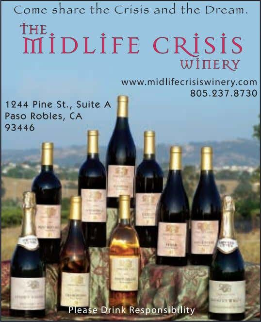other information is available at www.orchidhillwine.com. DOWNTOWN PASO ROBLES 15TH STREET 14TH STREET 101 VIHUELA