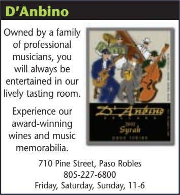 D'Anbino Owned by a family of professional musicians, you will always be entertained in our
