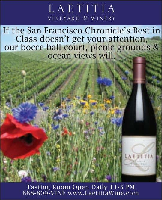WINE COUNTRY THIS WEEK ATTRACTIONS 5 www.winecountrythisweek.com
