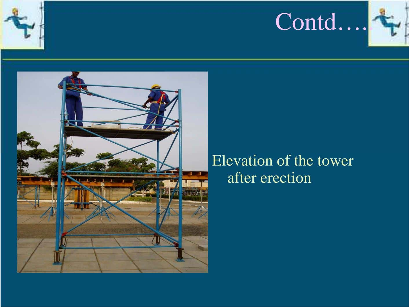 Contd… Elevation of the tower after erection