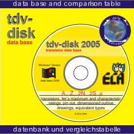 t a data base and comparison table tdv- a tdv- c disk disk e a
